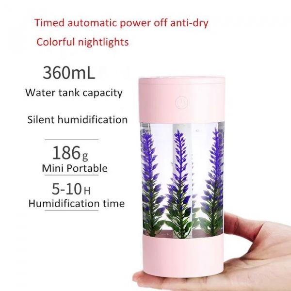 Difuzor,Aromaterapie ,Umidificator ,Led diferite culori,360ml [3]