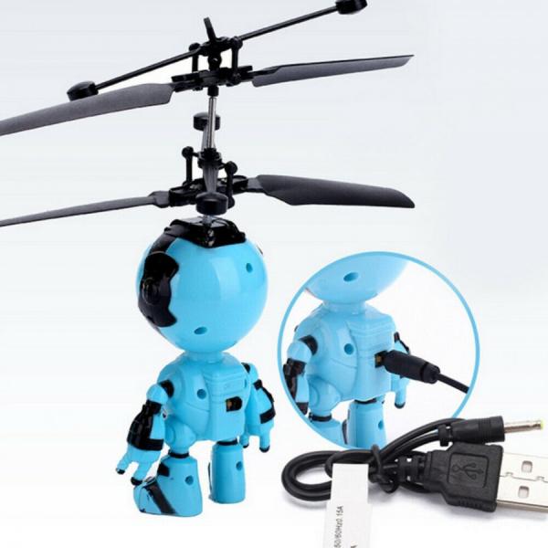 Jucarie interactiva Robot care zboara, reincarcabila cu USB [1]