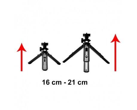Mini Trepied Rotativ De 360 De Grade Pentru Telefon, Gopro, Negru [2]