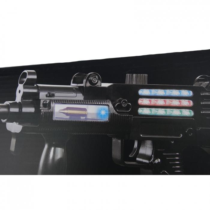 Mitraliera de jucarie model UZZI, cu luminite, sunete si vibratii, 35 cm [2]