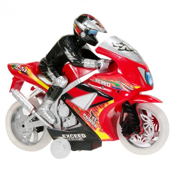 Motocicleta Race cu Rider, sunet si lumina, 30 x 24 x 10 cm [0]
