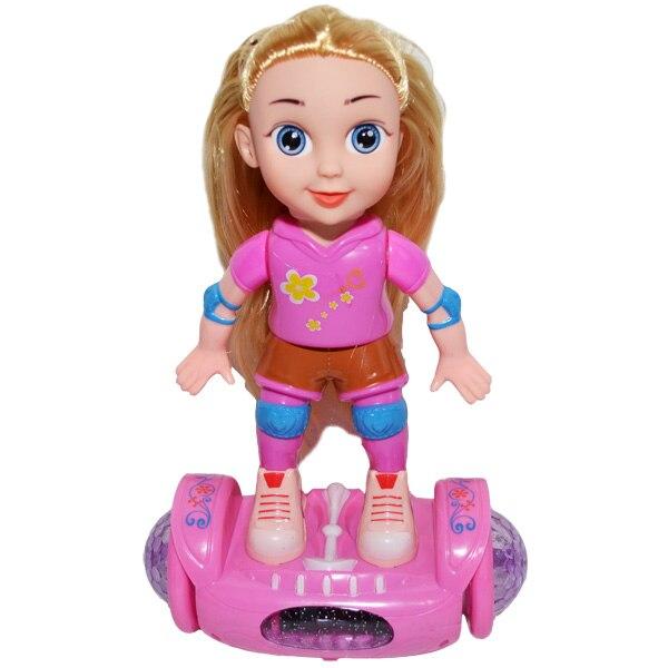 Papusa pe Hoverboard cu baterii roz , Robentoys [0]