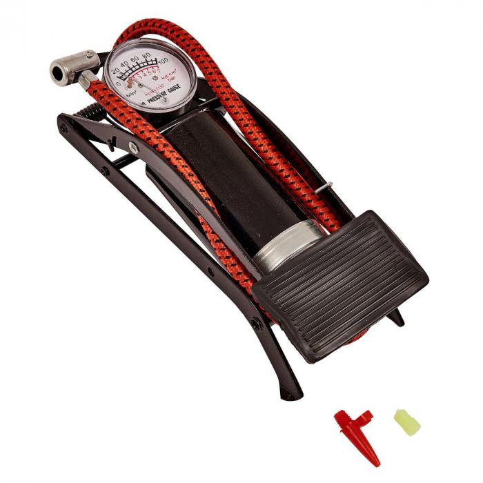 Pompa de picior cu pedala si manometru,Amtech [0]