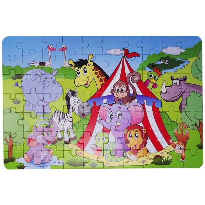 Puzzle pentru Copii, 4 in 1, Ferma animalelor, 24 de Piese [1]