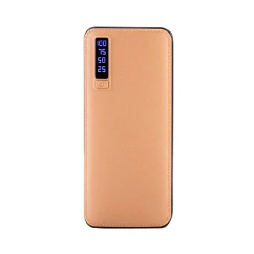 Baterie externa portabila Universala imitatie piele , 20 000 mAh, 2.1A, 2 x USB [0]