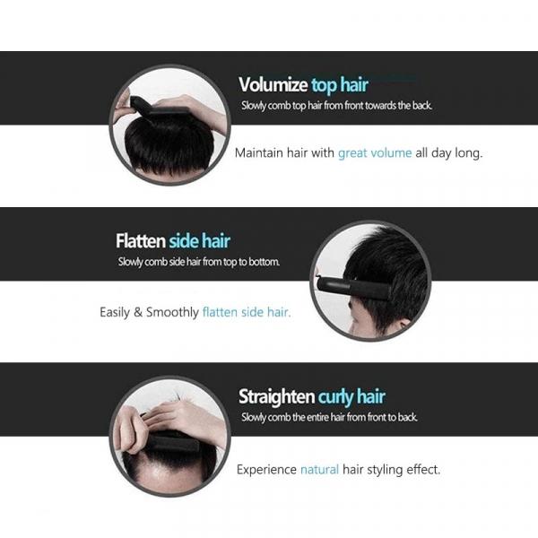 Placa de indreptat parul si barba Barbati, Aparat de Par/Barba Profesional, Hair Straightening Curler Comb TotulPerfect [1]