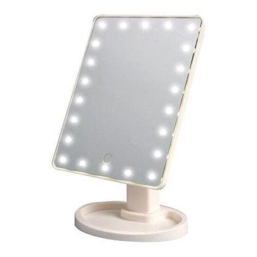 Oglinda alba pentru make-up cu 16 LED-uri, comutator ON / OFF [1]