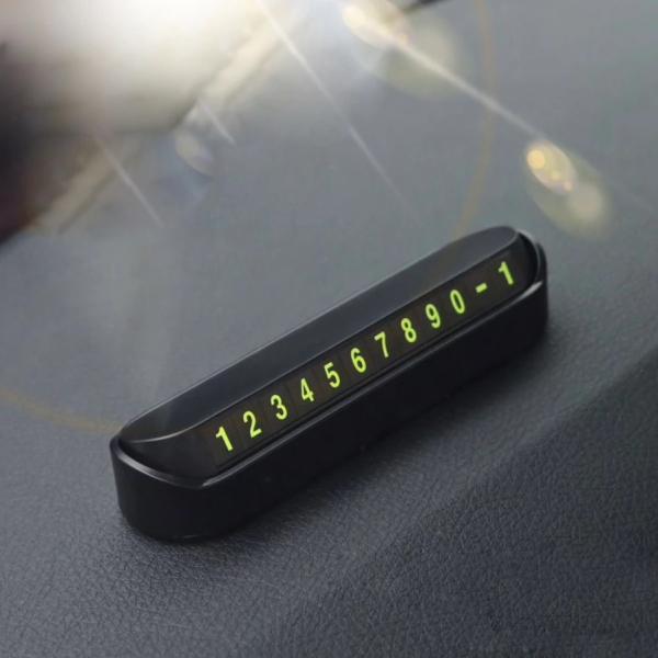 Suport numar telefon Blu pentru parcare temporara, afisaj parcare numar telefon [1]