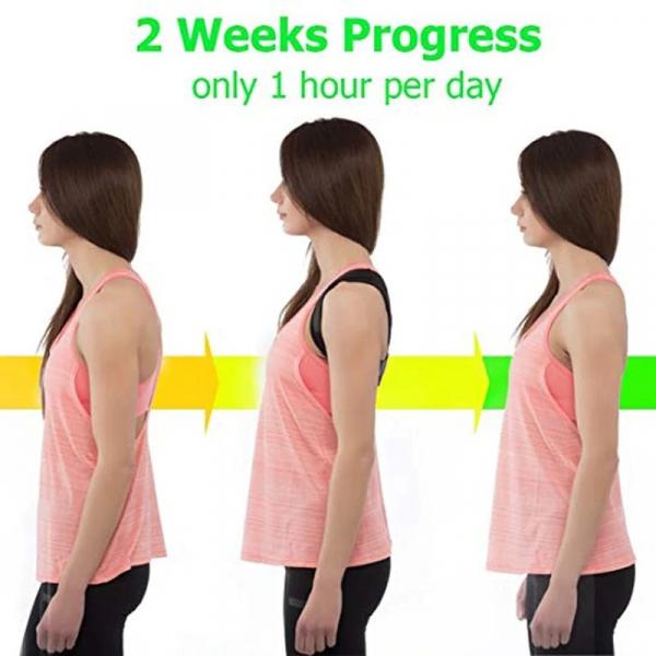 Corector Postura Ham Reflection Vision, Marime Universal Negru Suport Ajustabil Pentru Spate si Umeri Adulti, Copii [4]