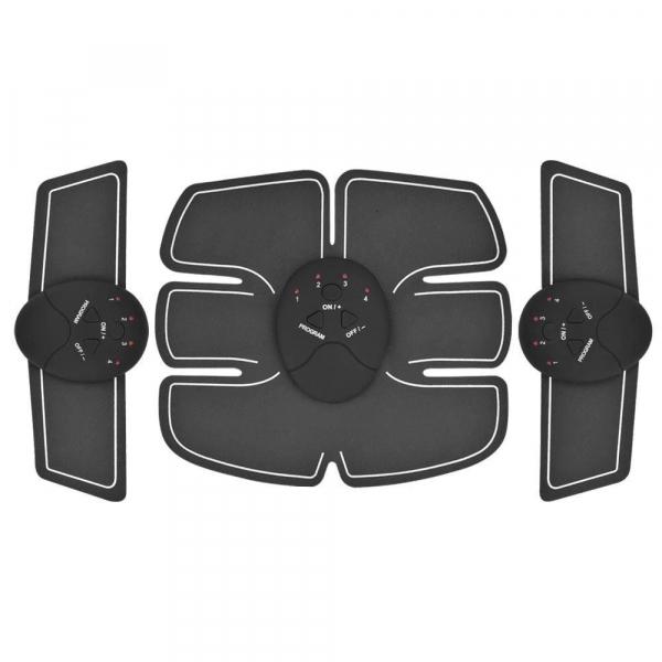 Centura electrostimulare sixpad smart fitness pro, 3 piese, 6 moduri pentru exercitii, biceps, abdomen, muschi oblici, coapse, gambe [0]