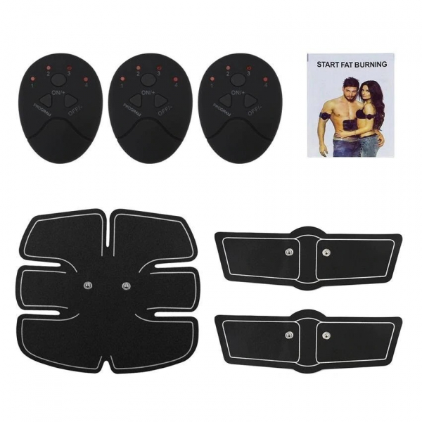 Centura electrostimulare sixpad smart fitness pro, 3 piese, 6 moduri pentru exercitii, biceps, abdomen, muschi oblici, coapse, gambe [1]