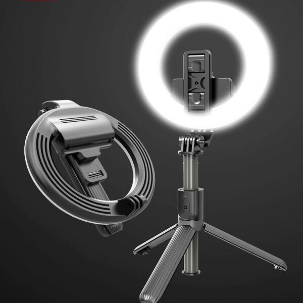 Lampa circulara Make up ,Selfie Stick Bluetooth L07, portabil, LED 5 inch, 90 cm [0]