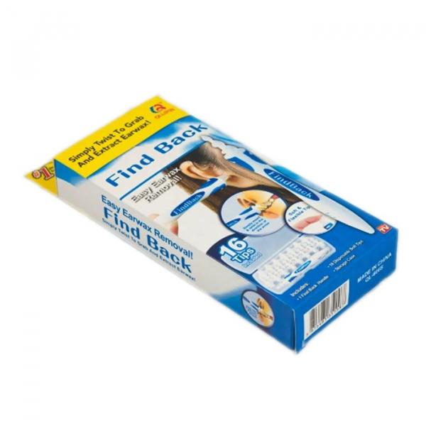 Aparat de curatat urechile cu 16 rezerve, Find Back alb/albastru [1]