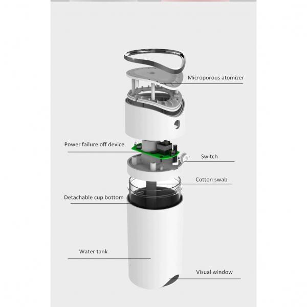 Difuzor si umidificator aromaterapie E39, cu lumina 7 culori LED, Arc Style [1]