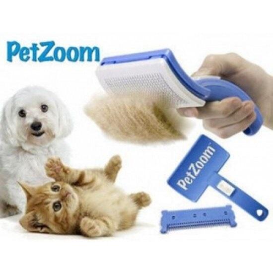 Perie pentru animale , Pet Zoom , sistem de auto-curatare , albastru [1]