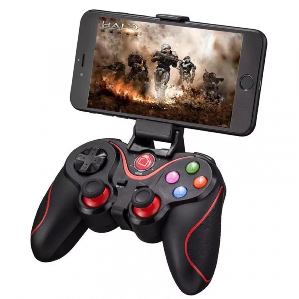 Gamepad LEHUAI-9078 Bluetooth Pentru Telefon , Tableta , PC , Smart TV , Smart Box Cu Acumulator Integrat [0]