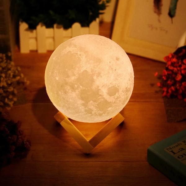 Lampa Luna Moon LED Portabila, Alb Cald si Rece, Intensitate Reglabila, Reincarcabila [2]