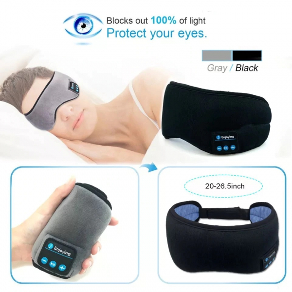 Masca de dormit MIDY 601, cu Casti Wireless, stereo Bluetooth 5.0 [4]