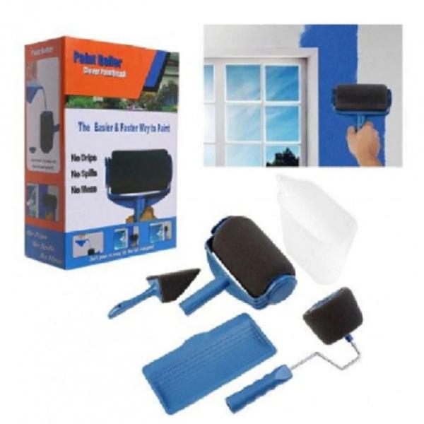 Trafalet Paint Roller Profesional cu umplere + rezervor si recipient,brat extensibil, 2 accesorii pentru Colturi,insta [3]