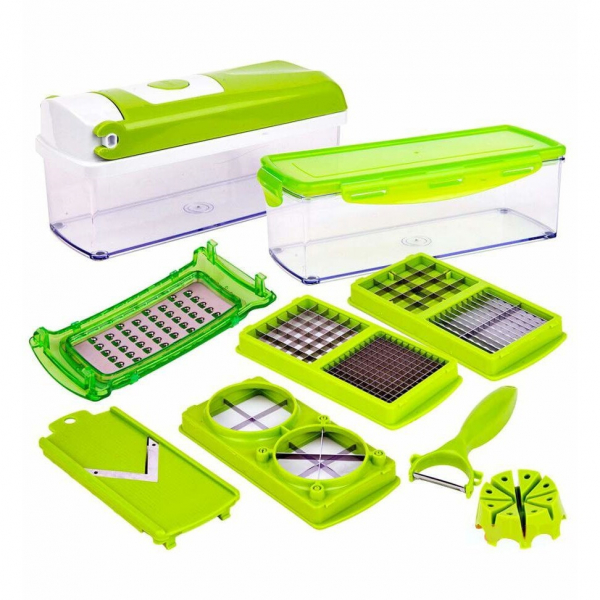 Razatoare de legume multifunctionala EDAR, 11 moduri de taiere, 9 piese [0]