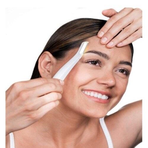 Epilator facial Derma cu Led, cu baterie si 6 lame, Alb [1]