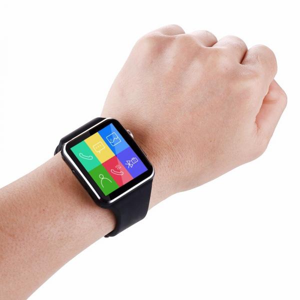 Smartwatch Usmart X6 ,ecran curbat ,cartela SIM,camera,notificari facebook,whatsapp,black [0]