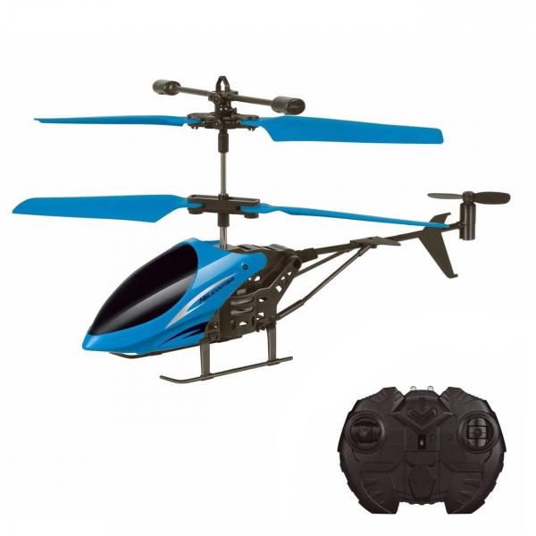 Elicopter cu telecomanda 2 canale, 17.5x3x10 cm, albastru [0]