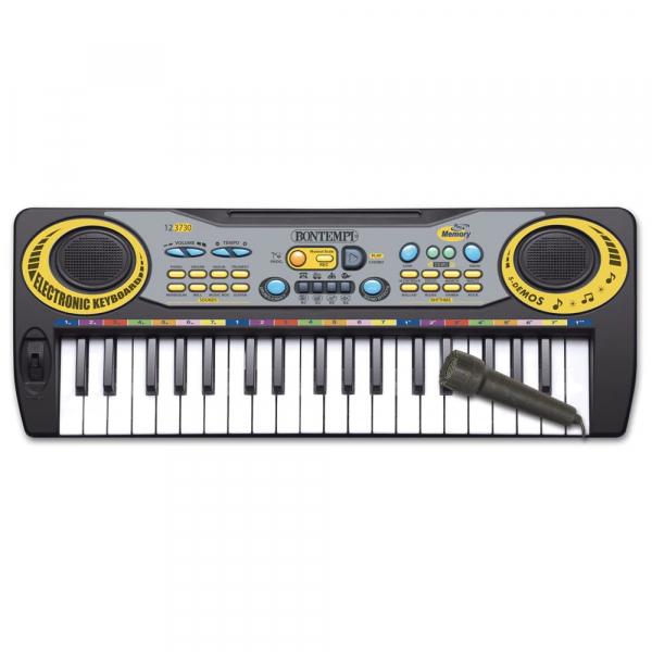 Orga cu Microfon , orga are 37 de taste 5 piese demo, 8 sunete, ritmuri, modul de inregistrare si redare, ATS , pentru copii [0]
