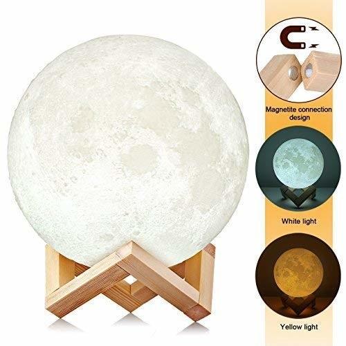 Lampa Luna Moon LED Portabila, Alb Cald si Rece, Intensitate Reglabila, Reincarcabila [3]