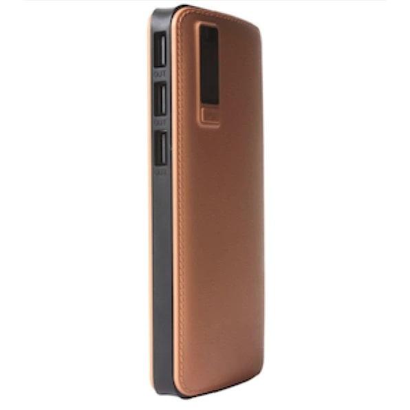 Baterie externa portabila Universala imitatie piele , 20 000 mAh, 2.1A, 2 x USB [1]