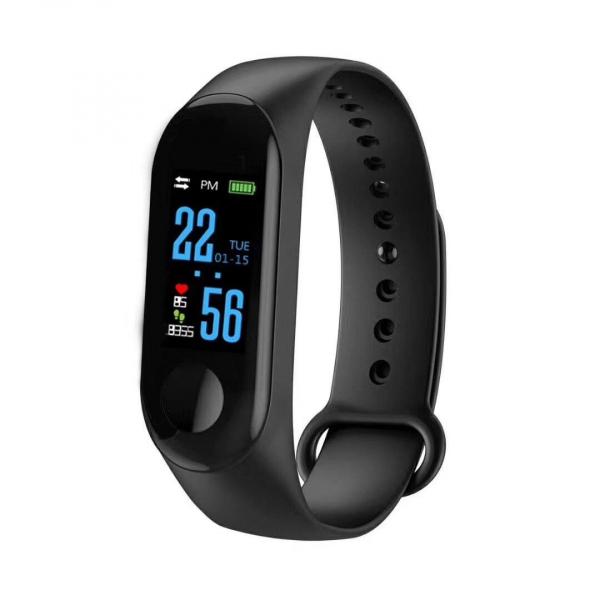 Bratara Fitness M3, ecran TFT 0.96inch, USB, bluetooth, masurare ritm cardiac si alte functii ale organismului [0]