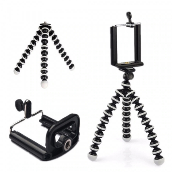 Mini trepied flexibil pentru telefon sau camera video/foto [2]