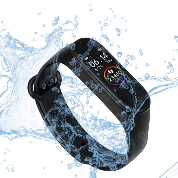 Bratara Fitness M4 Band, HR, Notificari, Pedometru, Bluetooth, Negru [2]