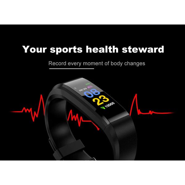 Bratara fitness ID115 plus-tensiune, ritm cardiac-black [2]