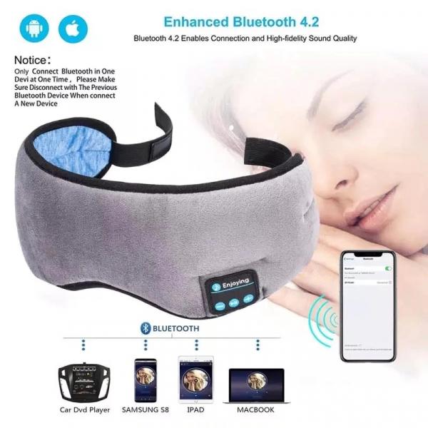 Masca de dormit MIDY 601, cu Casti Wireless, stereo Bluetooth 5.0 [5]