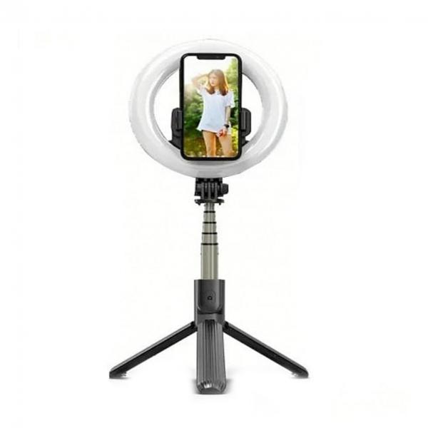 Lampa circulara Make up ,Selfie Stick Bluetooth L07, portabil, LED 5 inch, 90 cm [3]