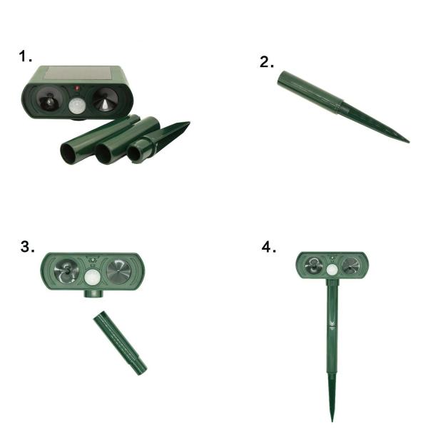 Dispozitiv solar de alarma anti-animale Timeless Tools [1]
