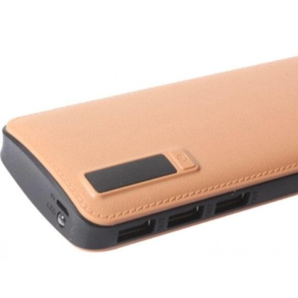 Baterie externa portabila Universala imitatie piele , 20 000 mAh, 2.1A, 2 x USB [2]