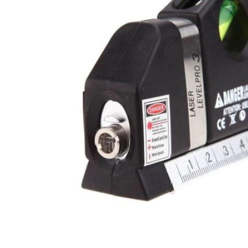 Nivela Laser cruce, orizontal si vertical, boloboc 3 bule, ruleta 2.5m si rigla aluminiu 15cm, multifunctionala 4 in 1 Laser, All in one [2]