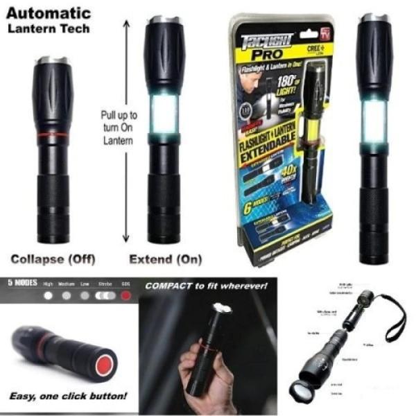 Lanterna tactica Tac Light Elite cu 5 moduri luminare si 2 surse de lumina, neagra [2]