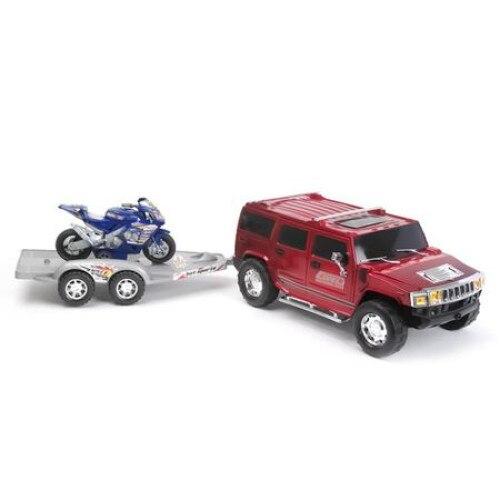 Masinuta Hummer cu motocicleta , 74x17x18 cm, AMA [0]