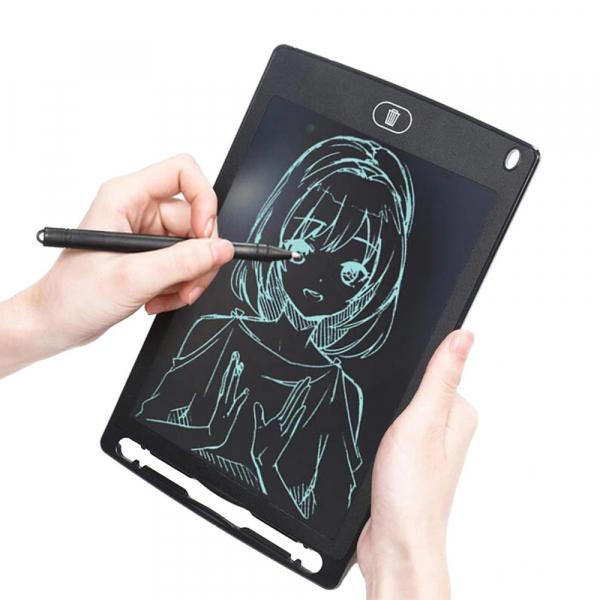 "Tableta LCD pentru scris si desenat, DigiTab, 8.5"", Negru [4]"