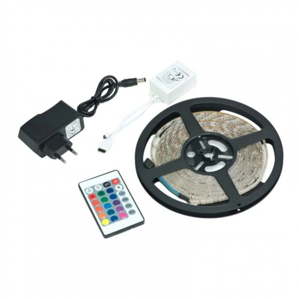 Banda LED cu telecomanda si 300 leduri,lungime 5 m [0]