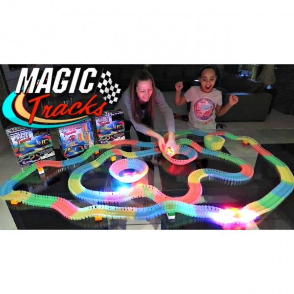 Circuitul Multicolor Magic Track cu o masinuta, 165 piese, fluorescent [2]