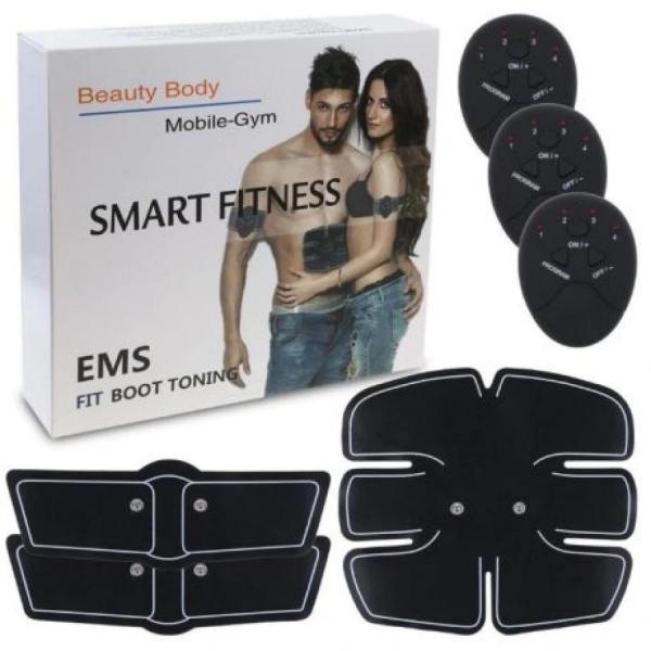 Centura electrostimulare sixpad smart fitness pro, 3 piese, 6 moduri pentru exercitii, biceps, abdomen, muschi oblici, coapse, gambe [3]