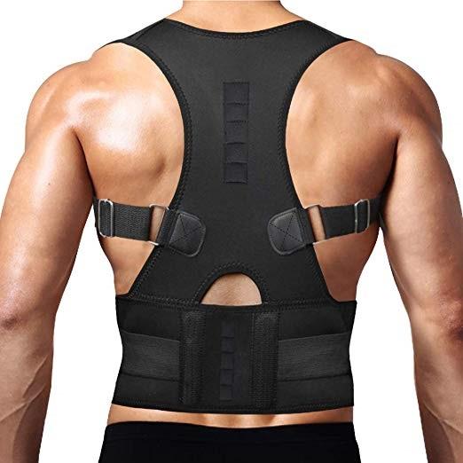 Corector postura spate Real Doctors cu magneti, centura spate, centura corectoare, ham spate negru [1]