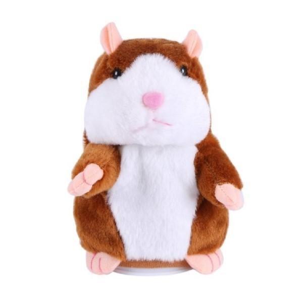 Jucarie interactiva hamster vorbitor din plus, Noname, Alb /Maro, + 3 ani [0]