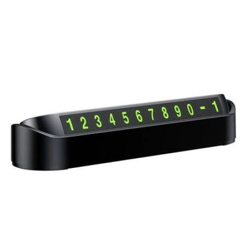 Suport numar telefon Blu pentru parcare temporara, afisaj parcare numar telefon [0]