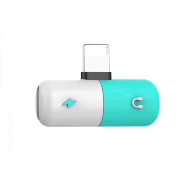 Adaptor universal compatibil Iphone, Lightning 2 in 1, incarcare rapida si casti simultan [1]