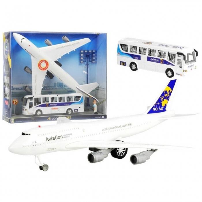 Set de joaca aeroport cu aeronava si autobuz [1]